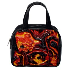Lava Active Volcano Nature Classic Handbags (one Side) by Alisyart