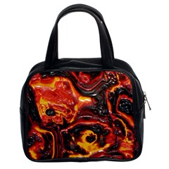 Lava Active Volcano Nature Classic Handbags (2 Sides) by Alisyart