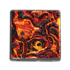 Lava Active Volcano Nature Memory Card Reader (square) by Alisyart