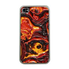 Lava Active Volcano Nature Apple Iphone 4 Case (clear) by Alisyart