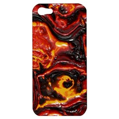 Lava Active Volcano Nature Apple Iphone 5 Hardshell Case by Alisyart