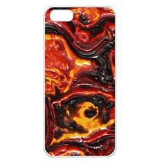 Lava Active Volcano Nature Apple Iphone 5 Seamless Case (white) by Alisyart