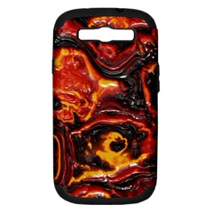 Lava Active Volcano Nature Samsung Galaxy S Iii Hardshell Case (pc+silicone) by Alisyart