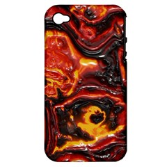 Lava Active Volcano Nature Apple Iphone 4/4s Hardshell Case (pc+silicone)