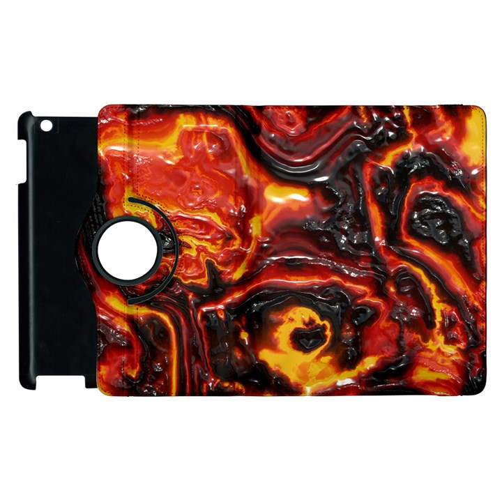 Lava Active Volcano Nature Apple iPad 2 Flip 360 Case