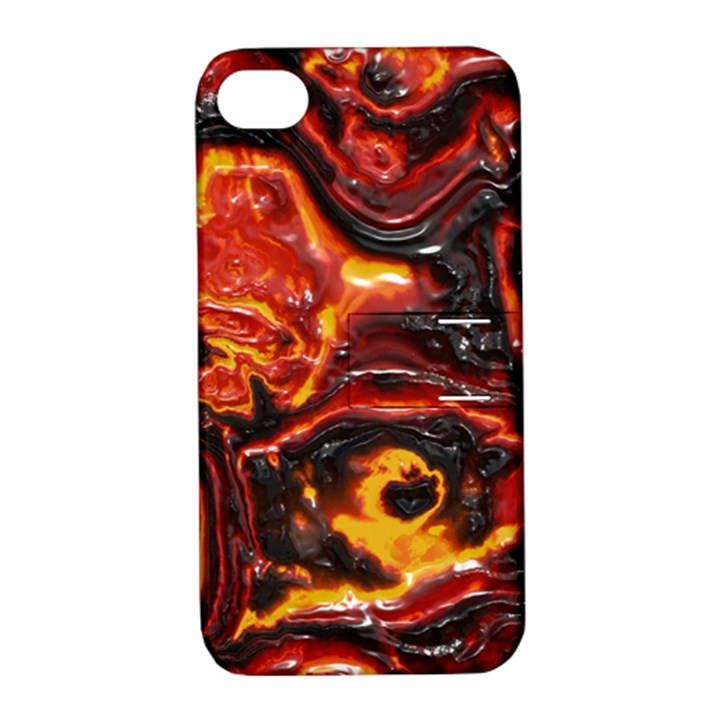 Lava Active Volcano Nature Apple iPhone 4/4S Hardshell Case with Stand
