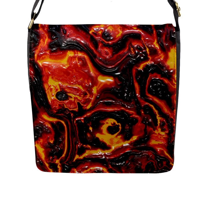 Lava Active Volcano Nature Flap Messenger Bag (L)