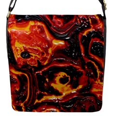 Lava Active Volcano Nature Flap Messenger Bag (s) by Alisyart