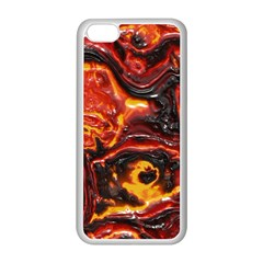 Lava Active Volcano Nature Apple Iphone 5c Seamless Case (white) by Alisyart