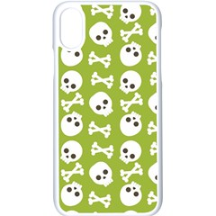 Skull Bone Mask Face White Green Apple Iphone X Seamless Case (white) by Alisyart
