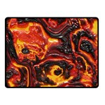 Lava Active Volcano Nature Double Sided Fleece Blanket (Small)  45 x34 Blanket Back