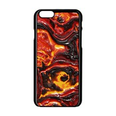 Lava Active Volcano Nature Apple Iphone 6/6s Black Enamel Case by Alisyart