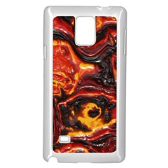 Lava Active Volcano Nature Samsung Galaxy Note 4 Case (white) by Alisyart