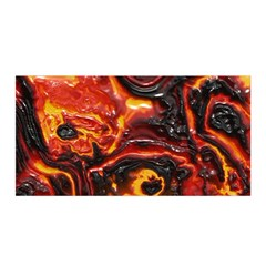 Lava Active Volcano Nature Satin Wrap by Alisyart