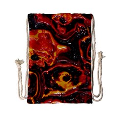 Lava Active Volcano Nature Drawstring Bag (small) by Alisyart
