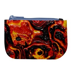 Lava Active Volcano Nature Large Coin Purse