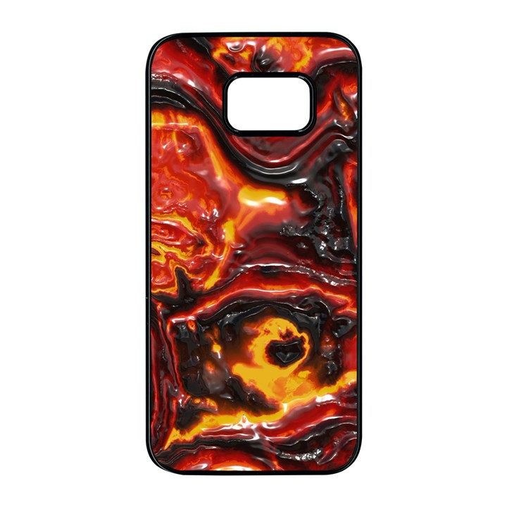 Lava Active Volcano Nature Samsung Galaxy S7 edge Black Seamless Case