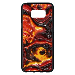Lava Active Volcano Nature Samsung Galaxy S8 Plus Black Seamless Case by Alisyart