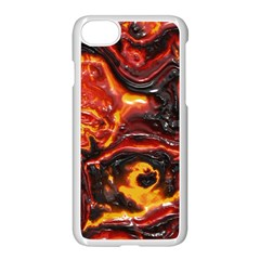 Lava Active Volcano Nature Apple iPhone 8 Seamless Case (White)