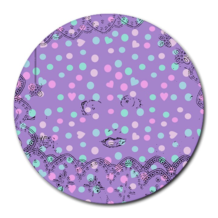 Little Face Round Mousepads