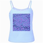 Little Face Baby Blue Spaghetti Tank Front