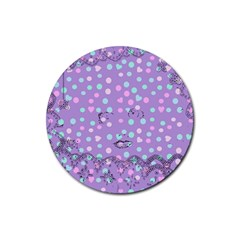 Little Face Rubber Round Coaster (4 pack)