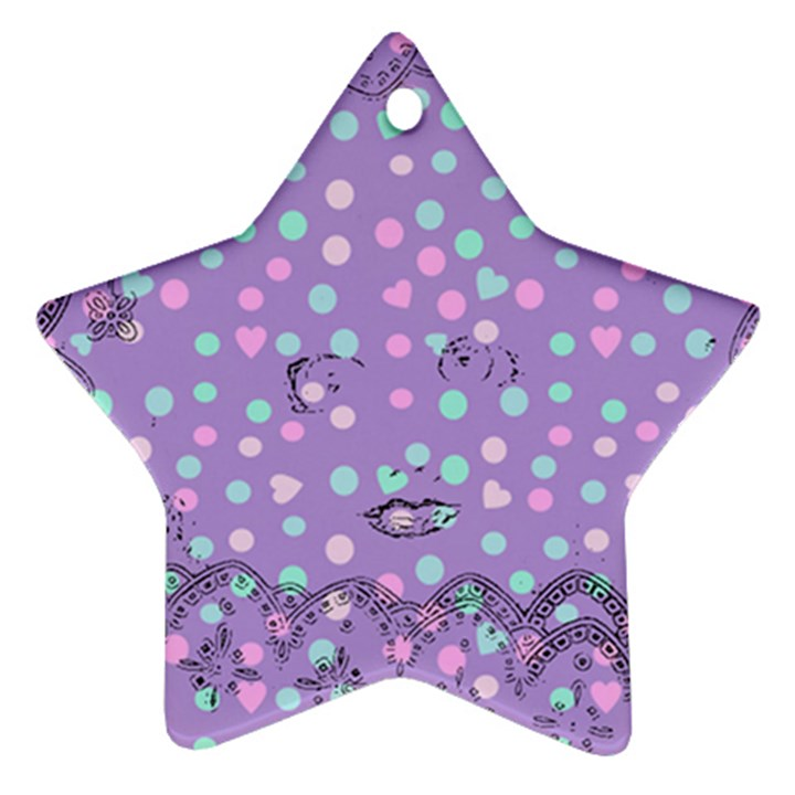 Little Face Star Ornament (Two Sides)