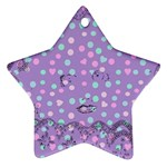 Little Face Star Ornament (Two Sides) Back