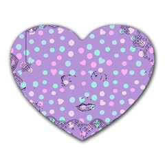 Little Face Heart Mousepads