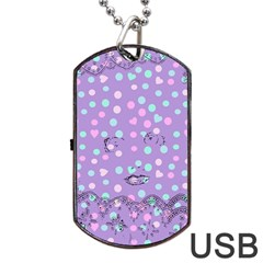 Little Face Dog Tag USB Flash (One Side)
