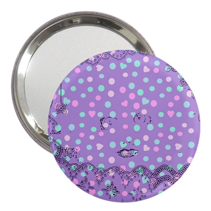 Little Face 3  Handbag Mirrors