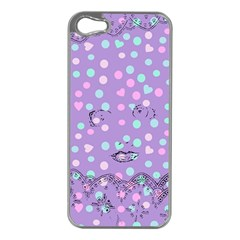 Little Face Apple iPhone 5 Case (Silver)
