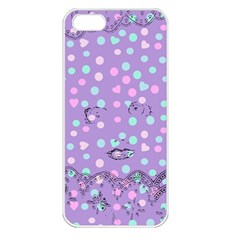 Little Face Apple iPhone 5 Seamless Case (White)
