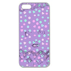 Little Face Apple Seamless iPhone 5 Case (Clear)