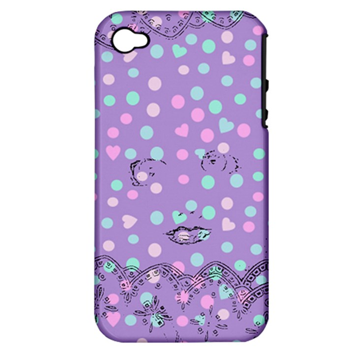 Little Face Apple iPhone 4/4S Hardshell Case (PC+Silicone)