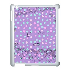 Little Face Apple iPad 3/4 Case (White)