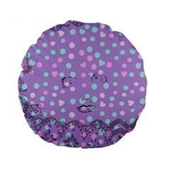Little Face Standard 15  Premium Round Cushions