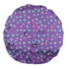 Little Face Large 18  Premium Round Cushions