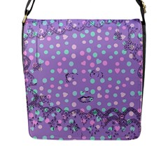 Little Face Flap Messenger Bag (L)