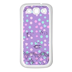 Little Face Samsung Galaxy S3 Back Case (White)