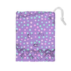 Little Face Drawstring Pouches (Large)
