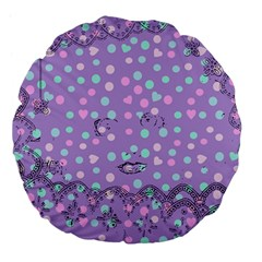 Little Face Large 18  Premium Flano Round Cushions