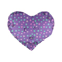 Little Face Standard 16  Premium Flano Heart Shape Cushions