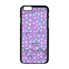 Little Face Apple iPhone 6/6S Black Enamel Case