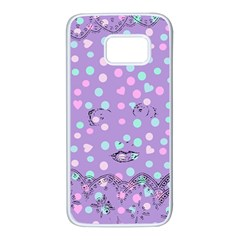 Little Face Samsung Galaxy S7 White Seamless Case