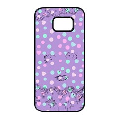 Little Face Samsung Galaxy S7 edge Black Seamless Case