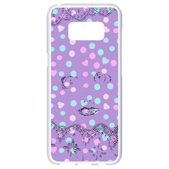 Little Face Samsung Galaxy S8 White Seamless Case