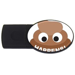 Poo Happens Usb Flash Drive Oval (2 Gb)