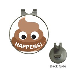 Poo Happens Hat Clips With Golf Markers by Vitalitee