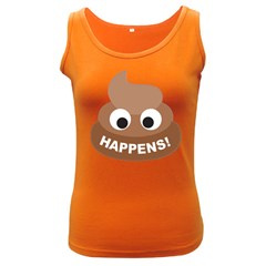 Poo Happens Women s Dark Tank Top
